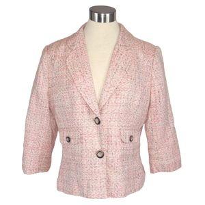Emma James Pink Tweed Blazer 12